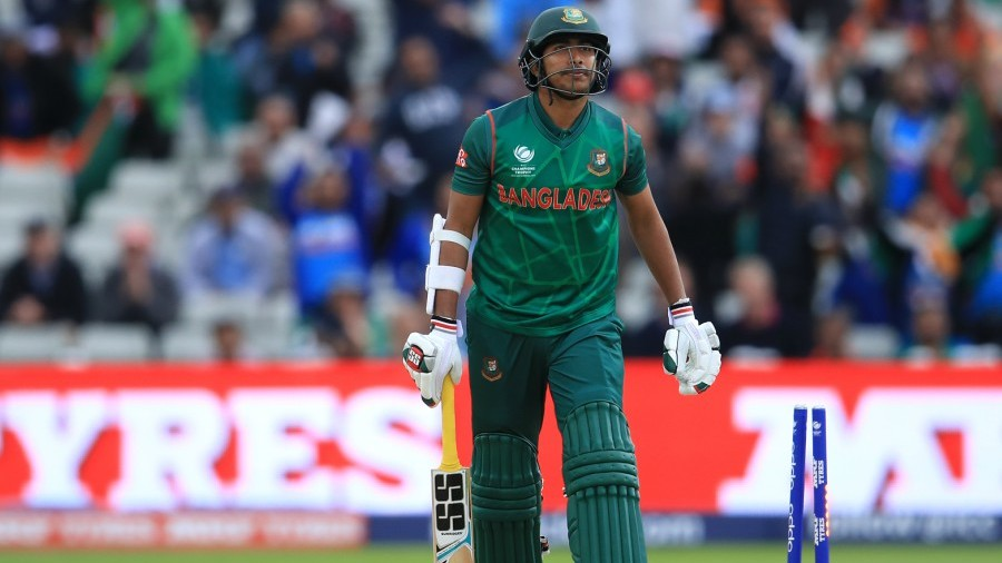 Soumya Sarkar was bowled in the first over