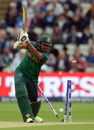 Soumya Sarkar inside-edges Bhuvneshwar Kumar onto his stumps, Bangladesh v India, Champions Trophy 2017, Edgbaston, June 15, 2017