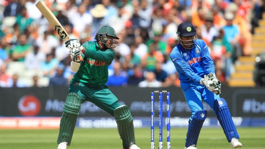 Shakib Al Hasan was caught behind by MS Dhoni, Bangladesh v India, Champions Trophy 2017, Edgbaston, June 15, 2017