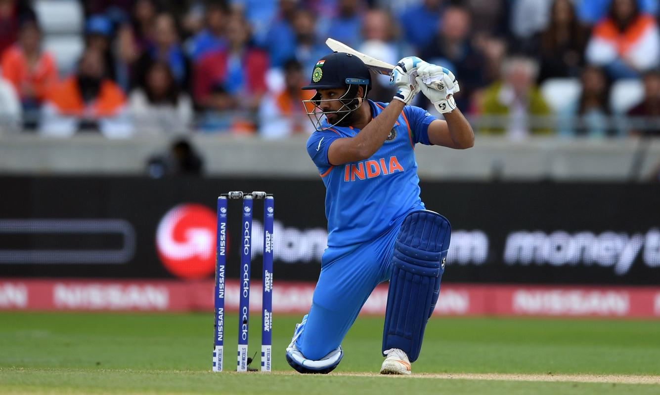 Rohit Sharma plays a square drive, Bangladesh v India, Champions Trophy 2017, Edgbaston, June 15, 2017