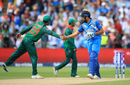 Tamim Iqbal congratulates Rohit Sharma for his century, Bangladesh v India, Champions Trophy 2017, Edgbaston, June 15, 2017