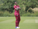 Shamilia Connell reacts in the field, West Indies Women and India Women, unofficial warm-up game, Leicestershire, June 16, 2017