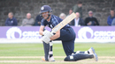 Craig Wallace sweeps early in his innings, Scotland v Zimbabwe, 1st ODI, Edinburgh, June 15, 2017