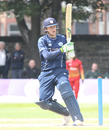 Michael Leask pulls behind square, Scotland v Zimbabwe, 1st ODI, Edinburgh, June 15, 2017