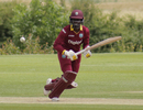 Kyshona Knight looks on after guiding one to the leg side, West Indies Women and India Women, unofficial warm-up game, Leicestershire, June 16, 2017