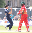 Chris Sole erupts after Hamilton Masakadza is caught at backward point, Scotland v Zimbabwe, 2nd ODI, Edinburgh, June 17, 2017