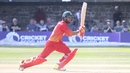 Sikandar Raza drives for a boundary through cover, Scotland v Zimbabwe, 2nd ODI, Edinburgh, June 17, 2017