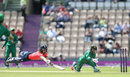 Danielle Wyatt dives to avoid being run out by Sidra Nawaz, England Women v Pakistan Women, 2nd T20I, Southampton, July 5, 2016