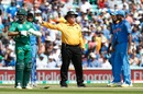Umpire Marais Erasmus signals the no-ball that gave Fakhar Zaman a life, India v Pakistan, Final, Champions Trophy 2017, The Oval, London, June 18, 2017