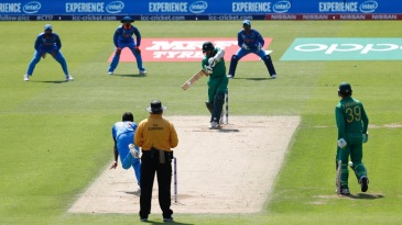 Azhar Ali gets in position to whip through the leg side