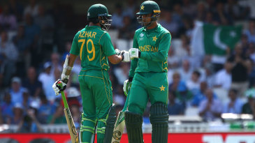 Azhar Ali and Fakhar Zaman added their second consecutive century opening stand