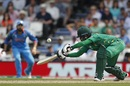 Mohamad Hafeez opens the face of his bat, India v Pakistan, Final, Champions Trophy 2017, The Oval, London, June 18, 2017