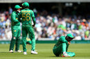 Azhar Ali rues his drop of Virat Kohli, India v Pakistan, Final, Champions Trophy 2017, The Oval, London, June 18, 2017