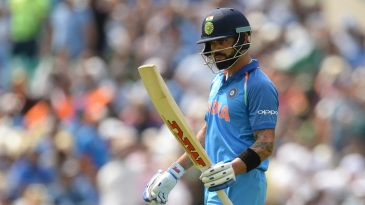 Virat Kohli popped a leading edge to point