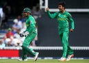Shadab Khan is pumped up after taking a wicket, India v Pakistan, Final, Champions Trophy 2017, The Oval, London, June 18, 2017