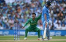 Shadab Khan makes an appeal after pinging Yuvraj Singh on the pad, India v Pakistan, Final, Champions Trophy 2017, The Oval, London, June 18, 2017