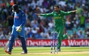 Junaid Khan is chuffed after dismissing Ravindra Jadeja, India v Pakistan, Final, Champions Trophy 2017, The Oval, London, June 18, 2017