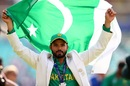 Azhar Ali holds the Pakistan flag aloft after their win in the final, India v Pakistan, Final, Champions Trophy 2017, The Oval, London, June 18, 2017