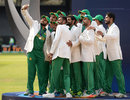 Azhar Ali clicks a selfie with the team, India v Pakistan, Final, Champions Trophy 2017, The Oval, London, June 18, 2017