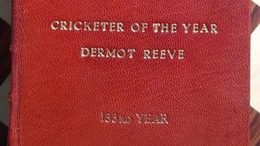 Dermot Reeve's leather-bound Wisden