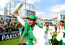 Hasan Ali takes a lap of honour, India v Pakistan, Champions Trophy, final, The Oval, London, June 18, 2017