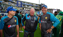 Pakistan's coaching staff - Shane Hayes, Steve Rixon and Mickey Arthur - enjoy the moment, India v Pakistan, Champions Trophy, final, The Oval, London, June 18, 2017