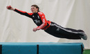 Beth Langston takes a diving catch at training, National Cricket Performance Centre, Loughborough, February 18, 2012