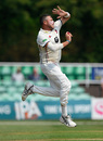 Mitchell Claydon bowling for Kent, Worcestershire v Kent, Specsavers Championship Division Two, Worcester, June 20, 2017