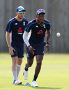 Chris Jordan and Liam Dawson during training, Ageas Bowl, June 20, 2017