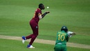 Shamilia Connell celebrates after taking a catch, West Indies v Pakistan, warm-up match, Women's World Cup, Grace Road, June 20, 2017