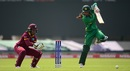 Nain Abidi punches the ball down the ground, Pakistan v West Indies, warm-up match, Women's World Cup, Grace Park, June 20, 2017