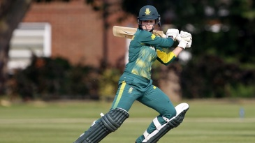 Dane van Niekerk plays the cut shot