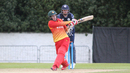 Malcolm Waller pulls over the leg side for a boundary during his 92, Scotland v Zimbabwe, 1st ODI, Edinburgh, June 15, 2017