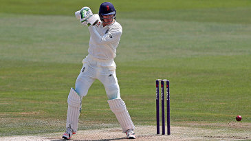 Keaton Jennings drives through the off side