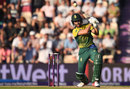 Farhaan Behardien hits down the ground, England v South Africa, 1st T20I, Ageas Bowl, June 21, 2017