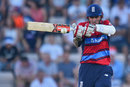 Alex Hales swats a pull during his unbeaten 47, England v South Africa, 1st T20I, Ageas Bowl, June 21, 2017