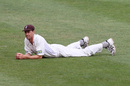 Matthew Nicholson rests his limbs, Surrey v Somerset, County Championship, Division One, Croydon, 2nd day, May 31, 2008