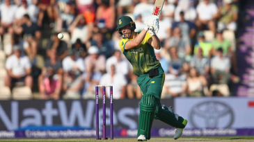 AB de Villiers hits one to the off side
