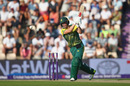 AB de Villiers hits one to the off side, England v South Africa, 1st T20I, Ageas Bowl, June 21, 2017