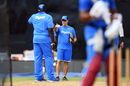 Stuart Law oversees West Indies preparations on the eve of the first ODI, Port of Spain, June 22, 2017