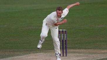 Jamie Porter bowls for England Lions