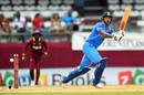 The flick was a productive shot for Shikhar Dhawan, West Indies v India, 1st ODI, Port-of-Spain, June 23, 2017