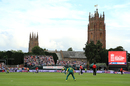 The Church of St James looms in the background at Taunton, England v South Africa, 2nd T20I, Taunton, June 23, 2017