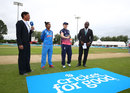 Mithali Raj calls as Heather Knight tosses the coin, England v India, Women's World Cup, Derby, June 24, 2017