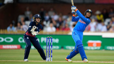 Smriti Mandhana cracks another boundary over the leg-side