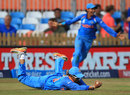 Sub fielder Veda Krishnamurthy took a superb diving catch to complete victory, England v India, Women's World Cup, Derby, June 24, 2017