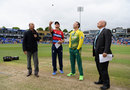 Jos Buttler stepped in to toss the coin after Eoin Morgan rested himself, England v South Africa, 3rd T20I, Cardiff, June 25, 2017