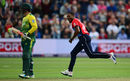 Chris Jordan dismissed the dangerous Chris Morris, England v South Africa, 3rd T20I, Cardiff, June 25, 2017
