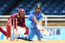 Shikhar Dhawan struck a fluent half-century, West Indies v India, 2nd ODI, Port-of-Spain, June 25, 2017