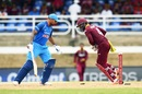 Shikhar Dhawan was stumped off Ashley Nurse, West Indies v India, 2nd ODI, Port-of-Spain, June 25, 2017